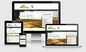 Abbildung der neuen Website der Unternehmer für Feldmoching e.V. auf vier verschiedenen Displays