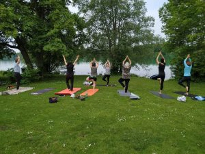 Yoga am Fasaneriesee mit Team Laurien & Alex